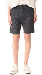 The Great Great. Army Shorts Washed Black