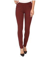 Sanctuary Grease Leggings Didier Check Women's Casual Pants Red