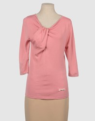 Fairly Knitwear Short Sleeve Jumpers Women Pink