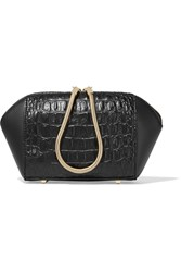 Alexander Wang Chastity Alligator Effect Leather Cosmetics Case Black