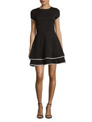 Design Lab Lord And Taylor Tiered Teacup Dress Black