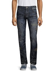 Robin's Jean Chapa Embroidered Jeans Dark Blue