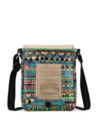 Sakroots Artist Circle Small Flap Messenger Bag Blue Multi