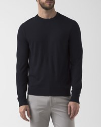 Theory Navy Blue Crew Neck Pullover