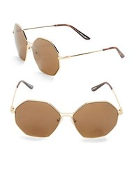 Brian Atwood 59Mm Square Sunglasses Light Gold