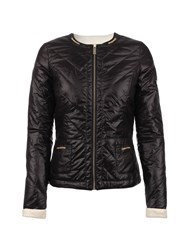 Morgan Quilted Shiny Look Jacket Black