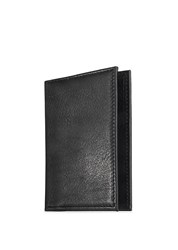 Graphic Image Metro Leather Bifold Card Case British Tan Black