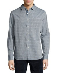 Jachs Ny Doby Dotted Button Front Shirt Blue