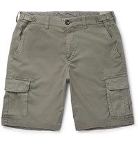 Brunello Cucinelli Stretch Cotton Cargo Shorts Sage Green