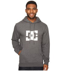 Dc Star Pullover Hoodie Charcoal Heather White Sweatshirt Gray