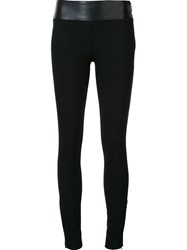 Nicole Miller Zipped Ankle Leggings Black