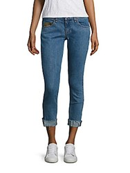 Rag And Bone Dre Boyfriend Light Wash Crop Jeans Killburn