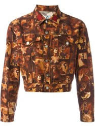 Jean Paul Gaultier Vintage Printed Denim Jacket Multicolour