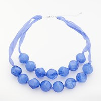 John Lewis Layered Bead Necklace Blue