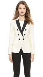 Veronica Beard Tux Jacket White Black