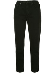 Nobody Denim Bessette Tapered Jeans Black