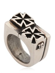 John Richmond Double Cross Ring