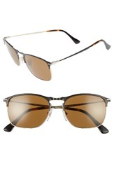 Persol Men's Evolution 55Mm Polarized Aviator Sunglasses