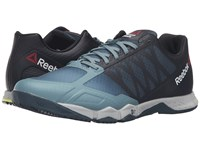 Reebok Crossfit Speed Tr Teal Dust Forest Grey Black Hero Yellow Skull Grey Men's Cross Training Shoes Blue