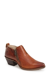 Frye 'Sacha' Washed Leather Moto Bootie Women Cognac