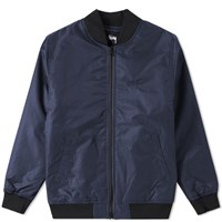Stussy Flight Satin Bomber Jacket Blue