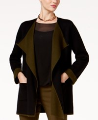 Alfani Colorblocked Open Front Cardigan Created For Macy's Deep Black