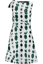 Jil Sander Satin Jacquard Dress Green