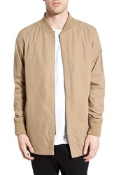 Men's Zanerobe 'A Ten' Longline Fishtail Bomber Jacket