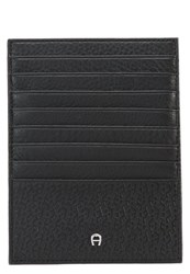 Aigner Business Card Holder Schwarz Black