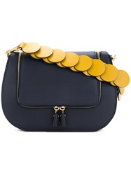 Anya Hindmarch Link Strap Vere Satchel Women Calf Leather One Size Blue
