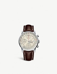Breitling A13324121g1x1 Navitimer 1 Chronograph Steel And Leather Watch