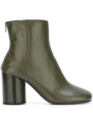 Maison Martin Margiela Cylindrical Heel Ankle Boots Green
