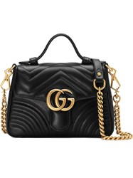 Gucci Gg Marmont Mini Top Handle Bag Black