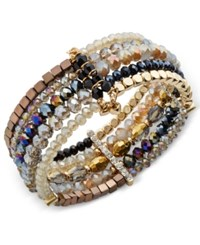 Inc International Concepts Gold Tone Beaded Cuff Bracelet Only At Macy's