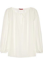 Tamara Mellon Silk Georgette Blouse White