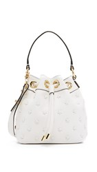 Milly Astor Small Star Bucket Bag White