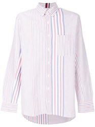 Tommy Hilfiger Oversized Striped Shirt Multicolour