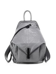 Kendall Kylie Koenji Leather Backpack Black Cement Grey