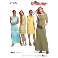 Simplicity 'S Easy To Sew Dress Sewing Pattern 8595