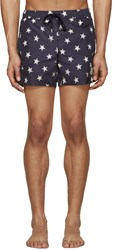 Moncler Navy Star Print Swimsuit