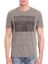 Ag Jeans Cliff Crewneck T Shirt Latent Road Heather Grey