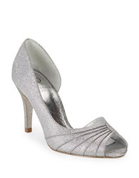 Adrianna Papell Flynn Peep Toe Pumps Steel Grey