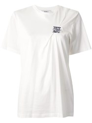 Goen.J Tuck Pleat Embroidered T Shirt 60
