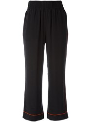 Ganni Cropped Trousers Black