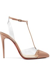 Christian Louboutin Nosy 100 Patent Leather And Pvc Pumps Neutral