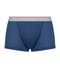 Zimmerli Perforated Trunks Male Blue