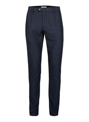 Topman Blue Selected Homme Navy Textured Dress Pants