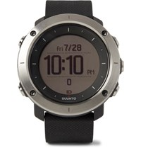Suunto Traverse Gps Outdoor Exploration Stainless Steel And Silicone Watch Black