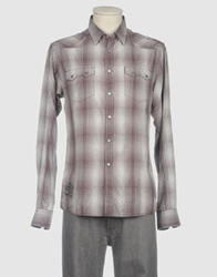 Firetrap Long Sleeve Shirts Light Grey