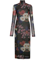 Staud Floral Long Sleeve Midi Dress 60
